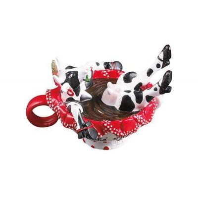 Figurina vacuta CowParade Cafe Ole S