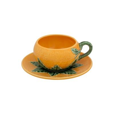 Ceasca cafea cu farfurie BP model portocala