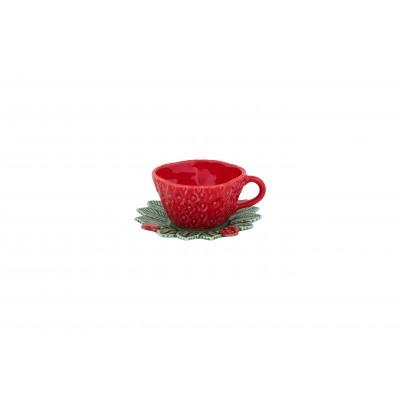 Ceasca ceai cu farfurie BP model capsuna