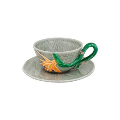 Ceasca ceai cu farfurie BP model pasarea paradisului