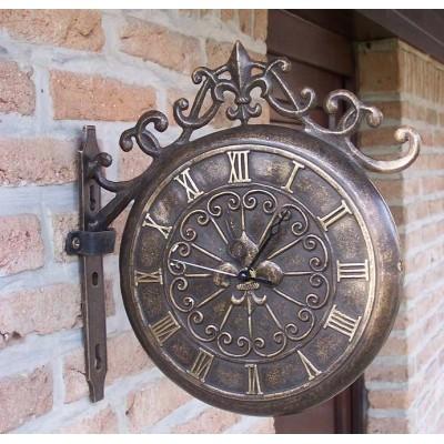 Decoratiune gradina bronz ceas pentru perete