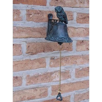 Decoratiune gradina bronz clopotel bufnita