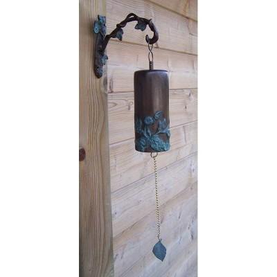 Decoratiune gradina bronz clopotel cu flori