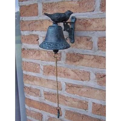 Decoratiune gradina bronz clopotel pasarele