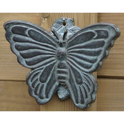 Decoratiune gradina bronz sonerie fluturas