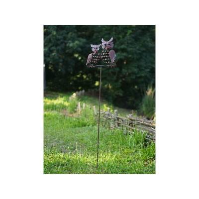 Decoratiune gradina metal / suport flori bufnite