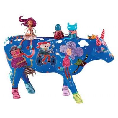 Figurina vacuta CowParade Alegria Invernal L