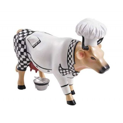 Figurina vacuta CowParade Chef Cow M
