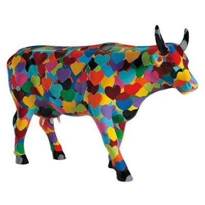 Figurina vacuta CowParade Heartstanding Cow L