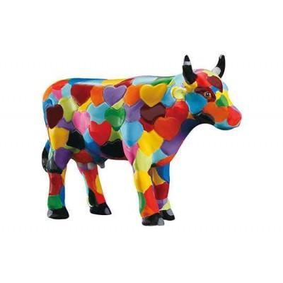 Figurina vacuta CowParade Heartstanding Cow S