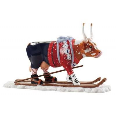 Figurina vacuta CowParade Ski Cow - aka Loypelin Lauslam M