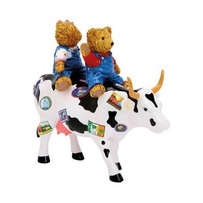 Figurina vacuta CowParade Teddy Bears on the Moove M