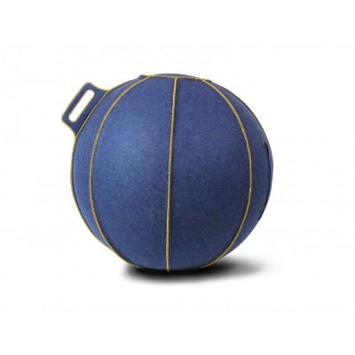Fotoliu minge gonflabil lana albastru/auriu 75 cm