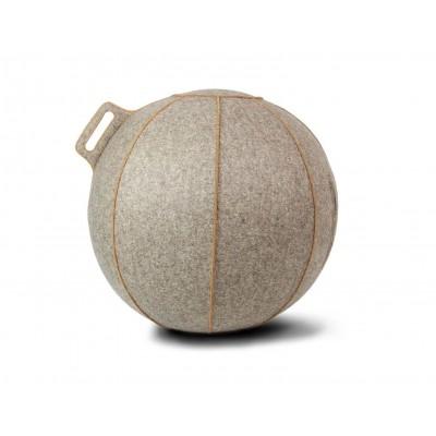 Fotoliu minge gonflabil lana bej/maro 65 cm