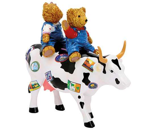 Figurina vacuta CowParade Teddy Bears on the Moove M